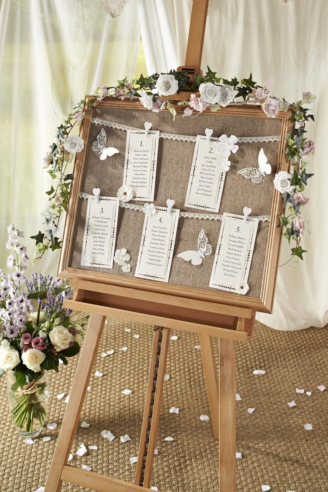 Diy Vintage Wedding Table Chart Hobbycraft Blog