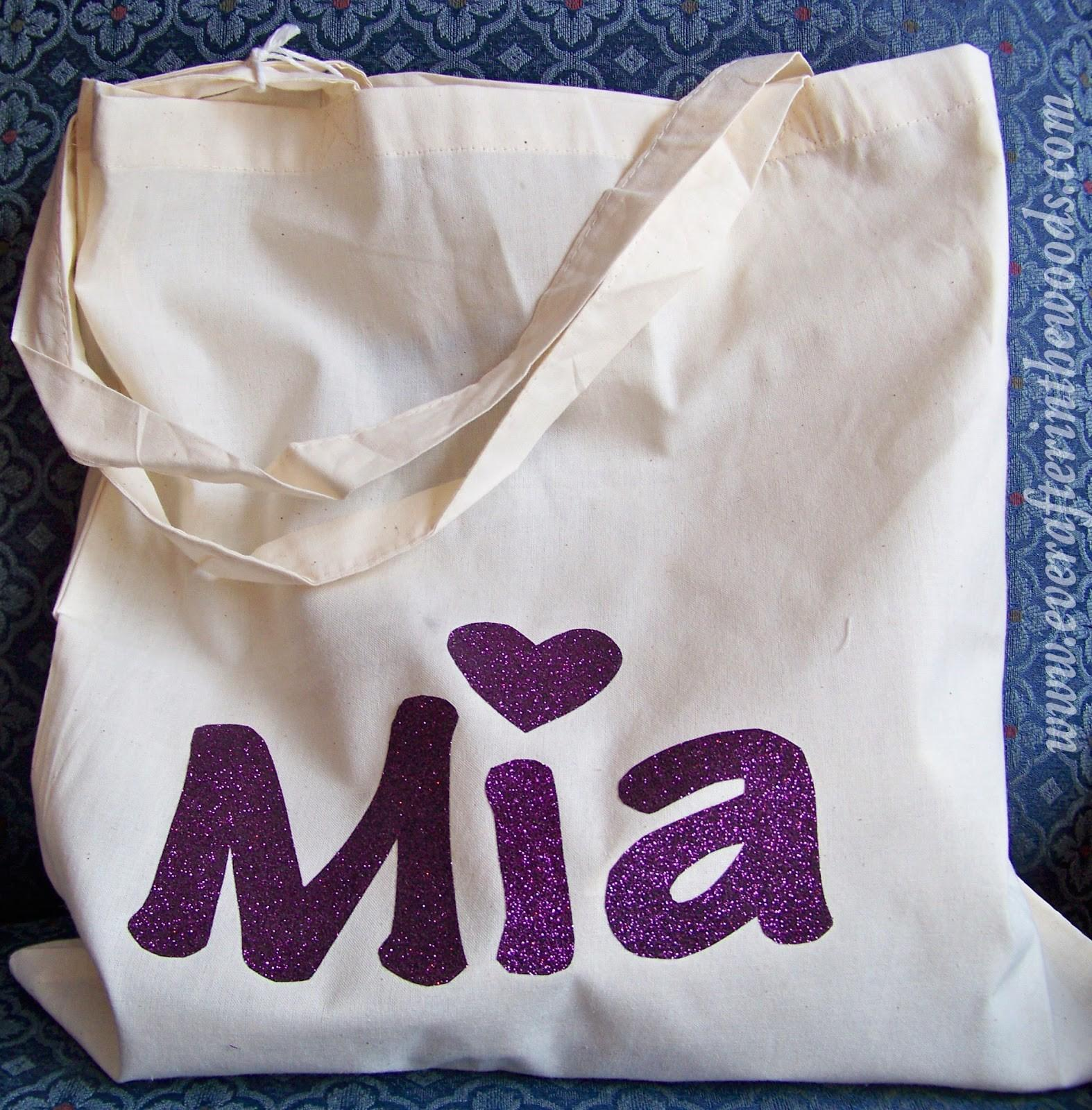 Diy Vinyl Craft Ideas Kids Personalized Glitter Tote Bag