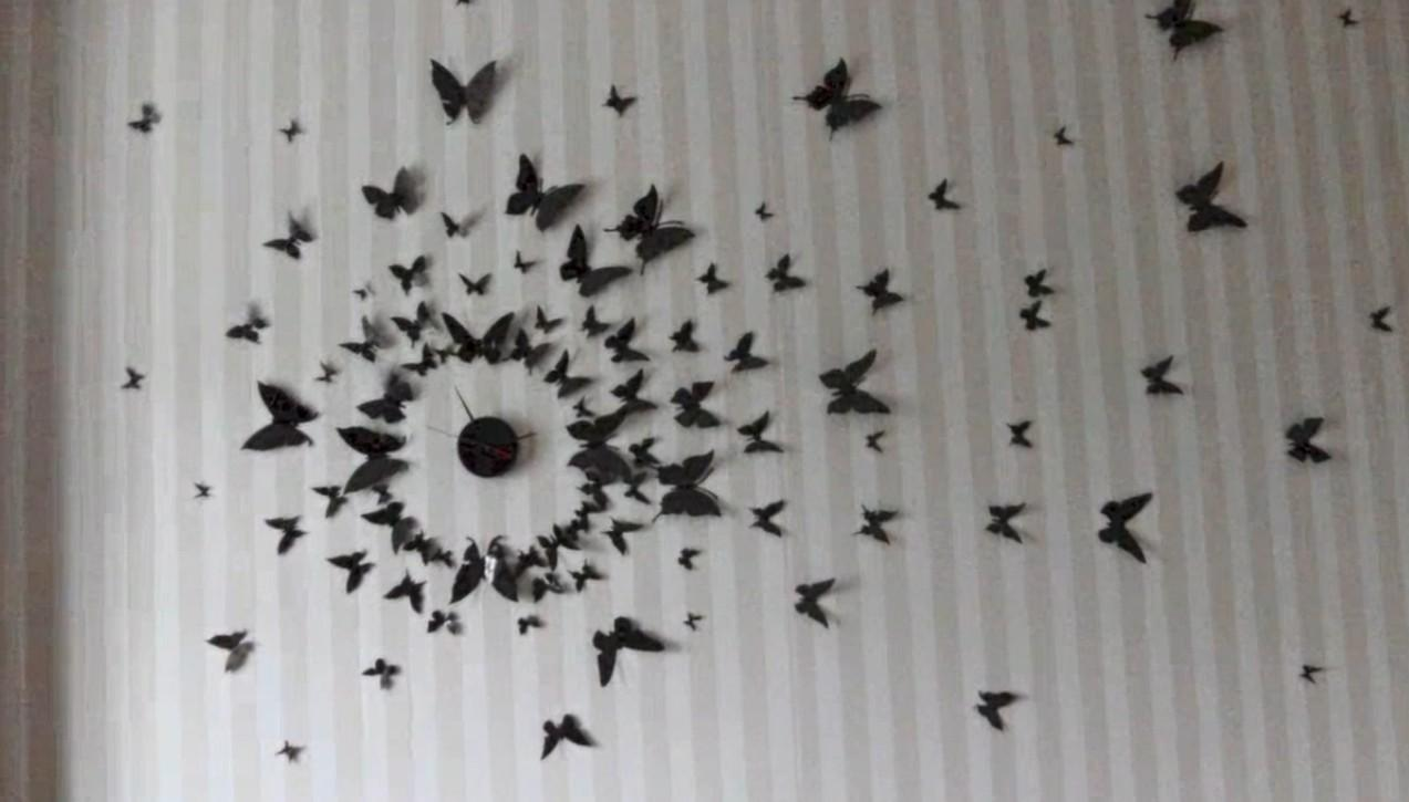 Diy Wall Art Butterflies Wallartideas Throughout