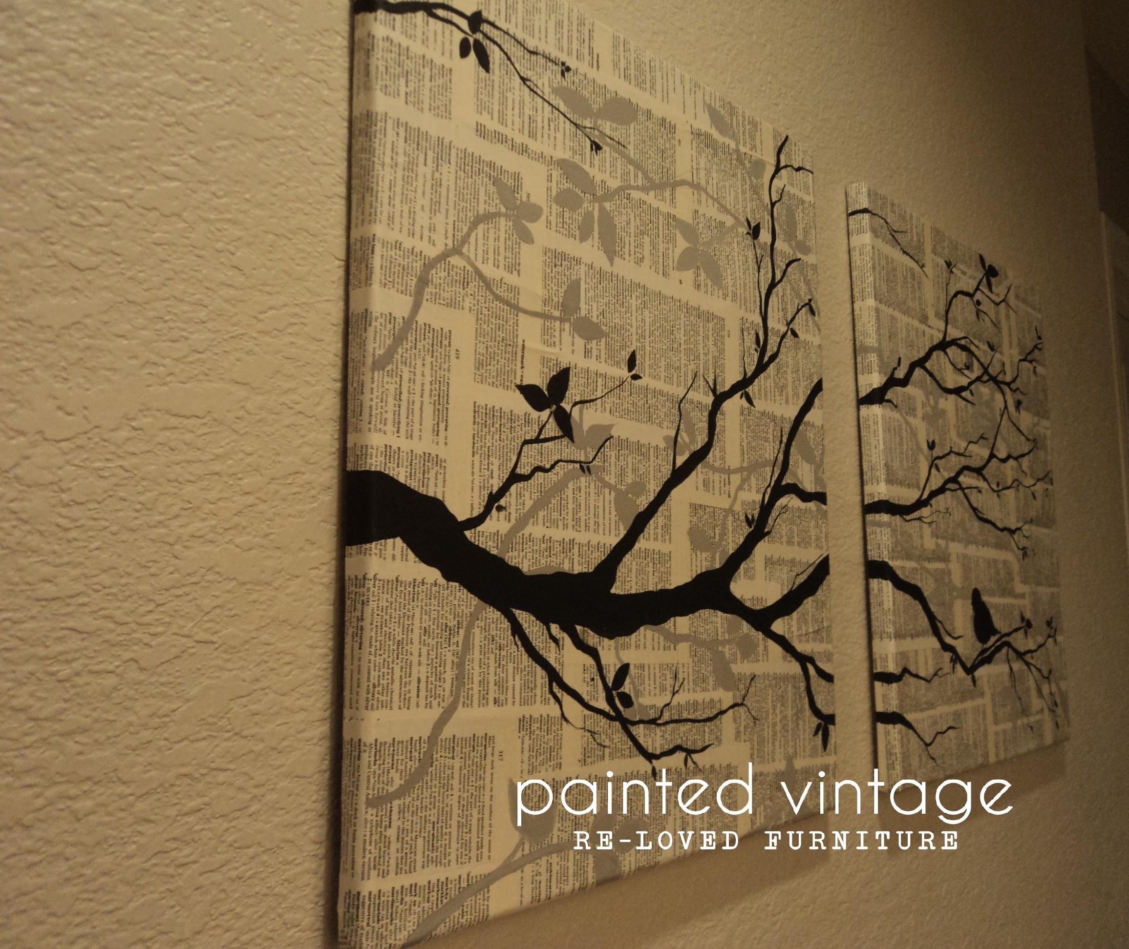 Diy Wall Art Under Painted Vintage