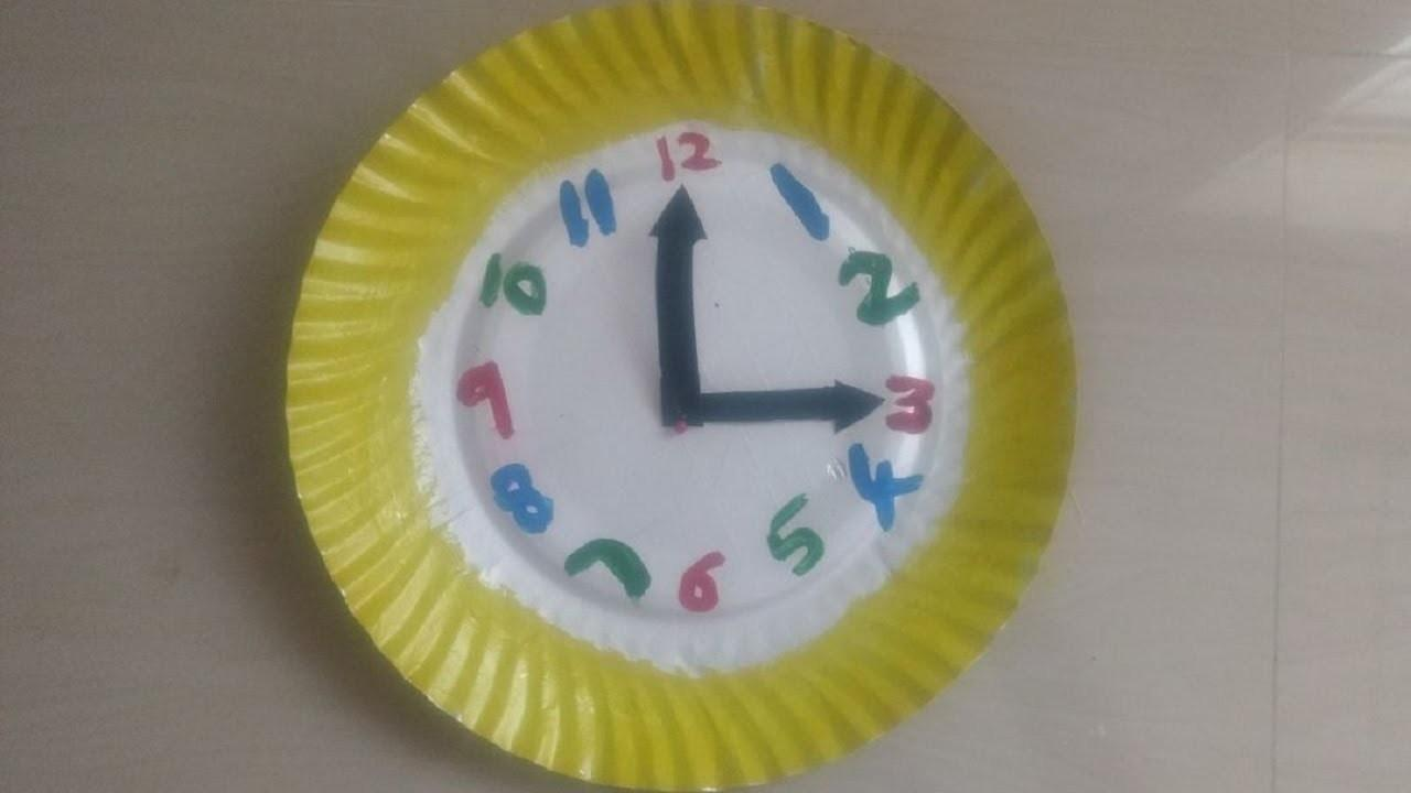 Diy Wall Clock Paper Plate Easy Kids Crafts Ideas