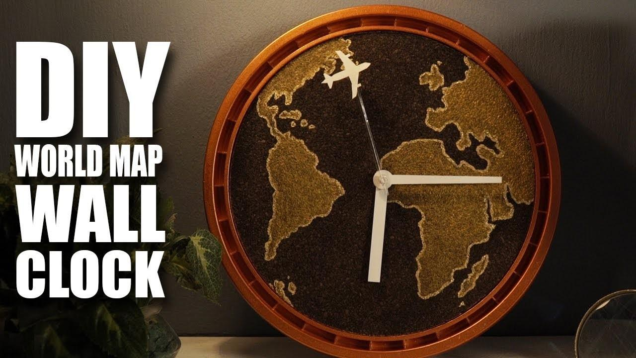 Diy Wall Clock World Map Madstuffwithrob