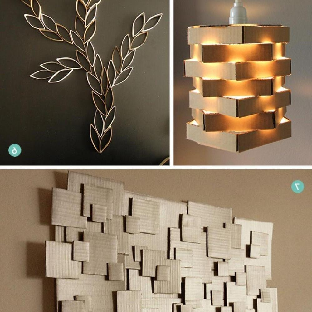 Diy Wall Decor Cardboard Intriguing Interiors