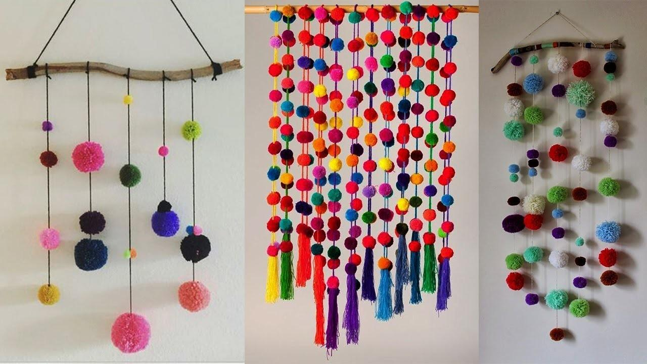 Diy Wall Hanging Crafts Ideas Woolen Pom