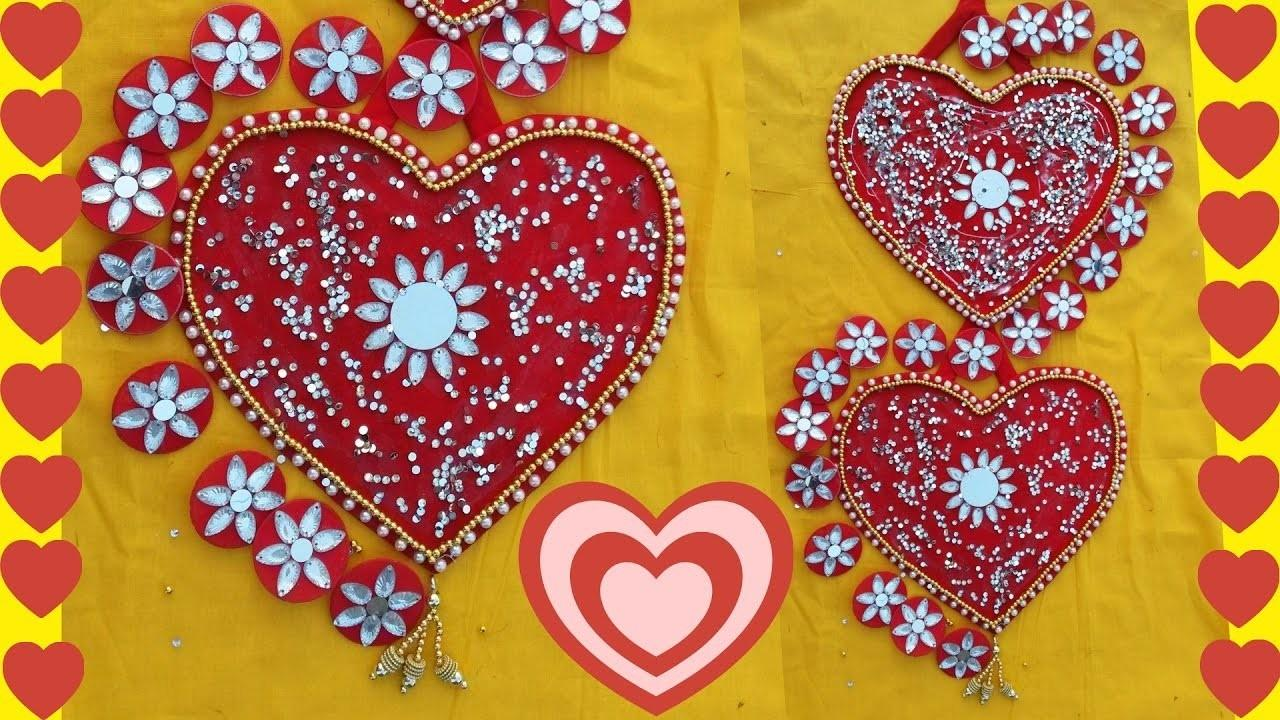 Diy Wall Hanging Heart Shape Decor Ideas