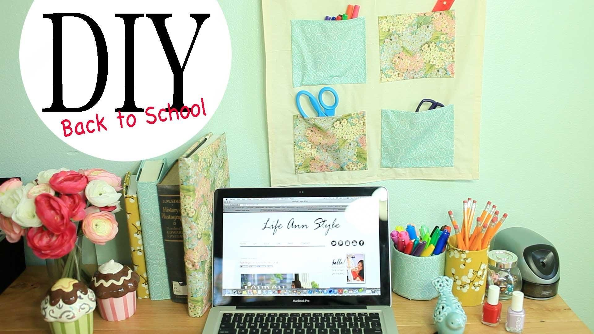 Diy Wall Organizer Desk Accessories Back School Ideas