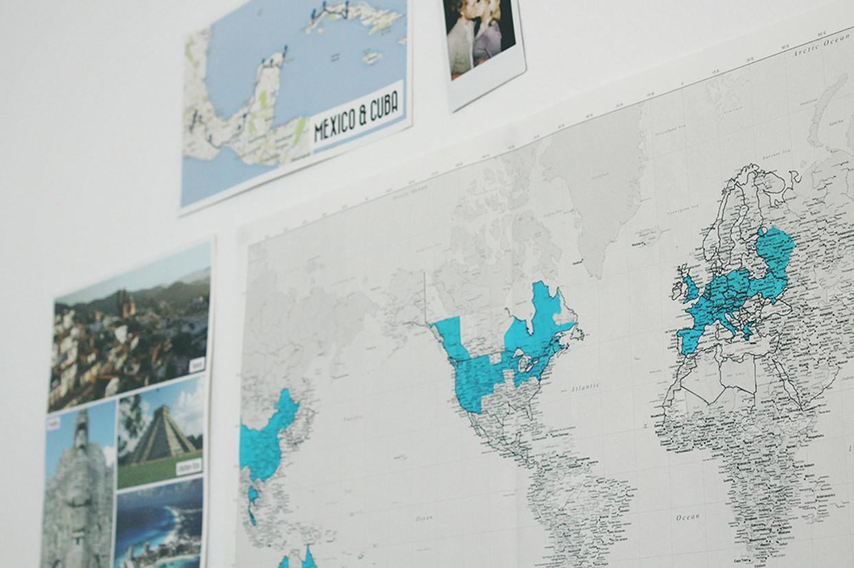 Diy Wall Travel Map Makers Society