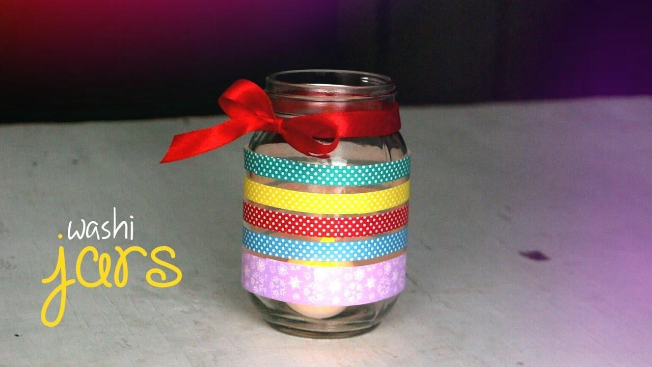 Diy Washi Tape Jar Crafts Projects