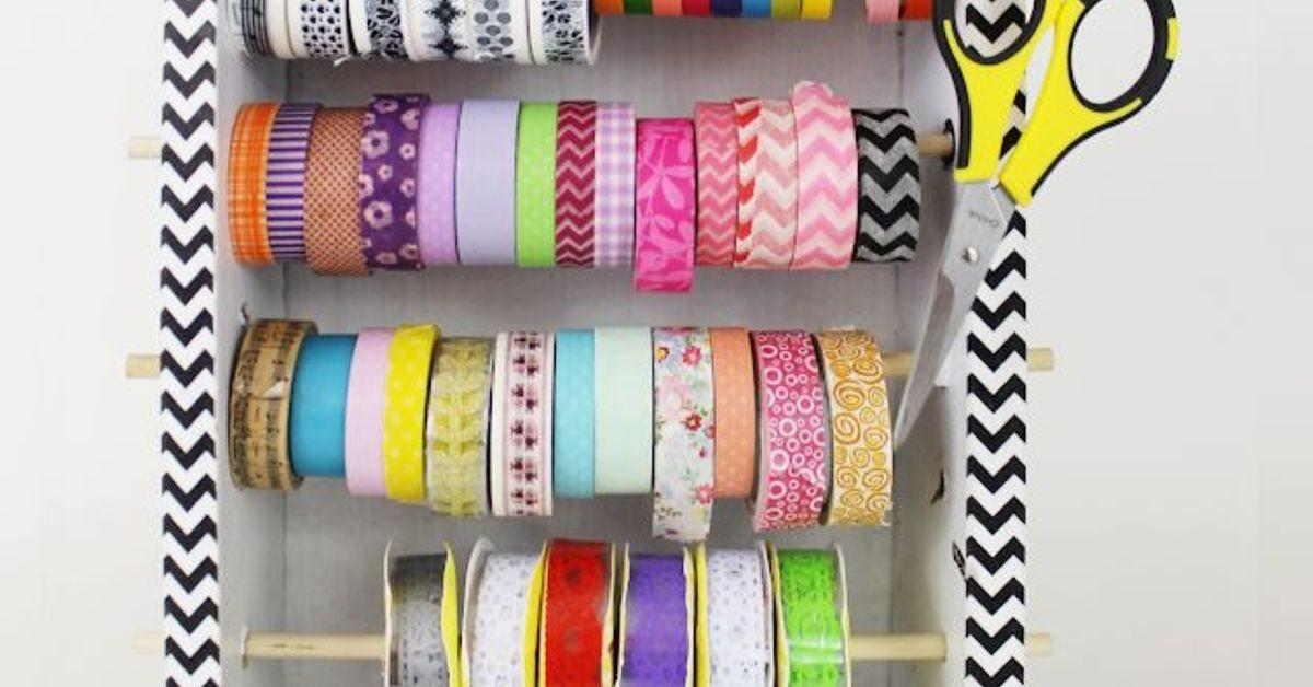 Diy Washi Tape Organizer Dispensor Box Hometalk