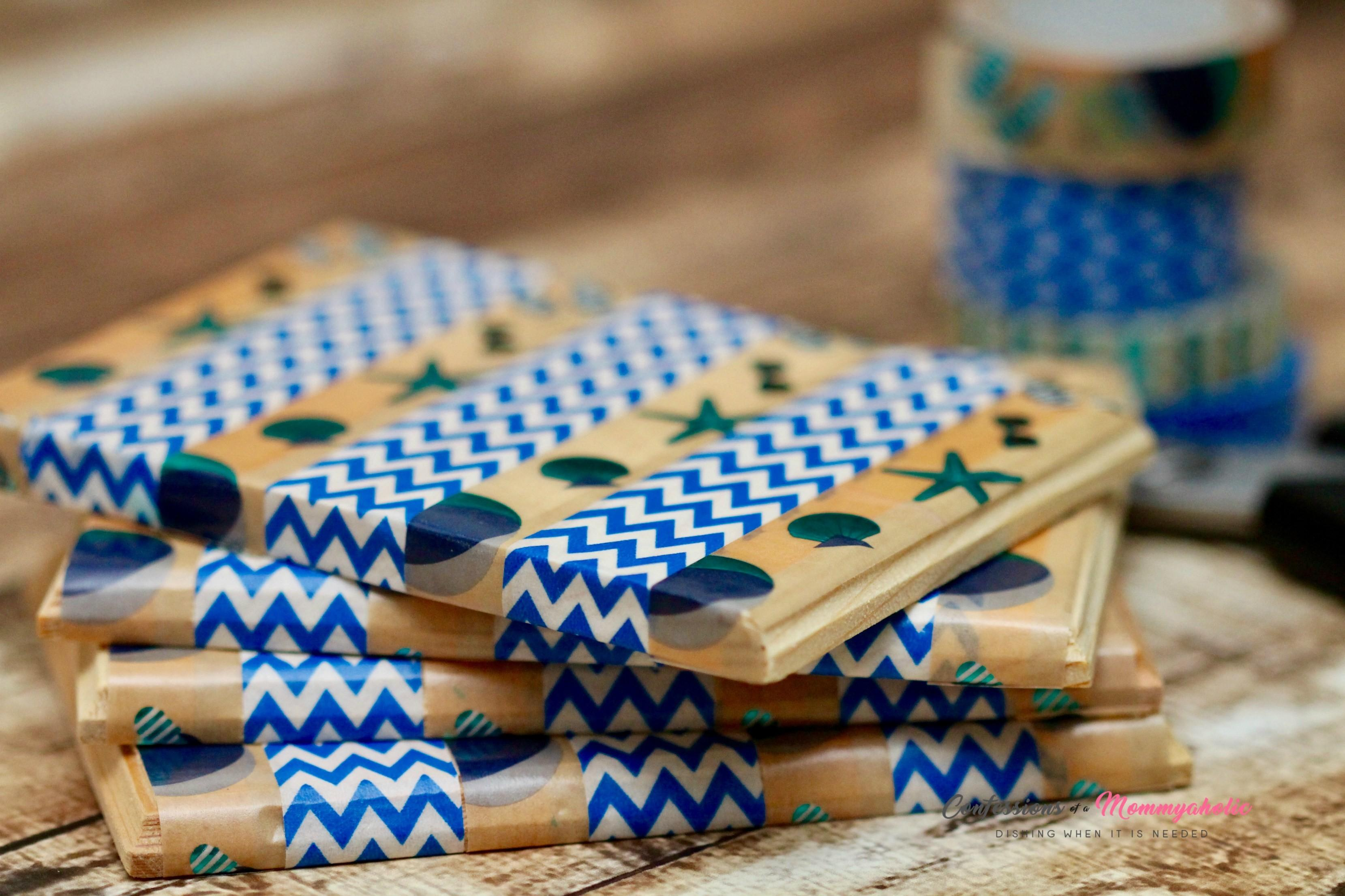 Diy Washi Tape Summer Drink Coasters Confessions