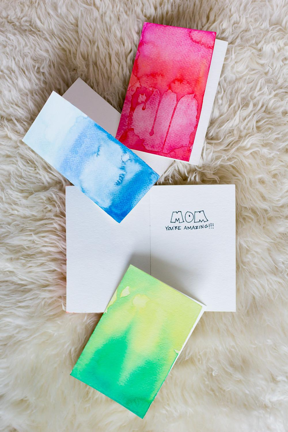 Diy Watercolor Greeting Cards Wandeleur