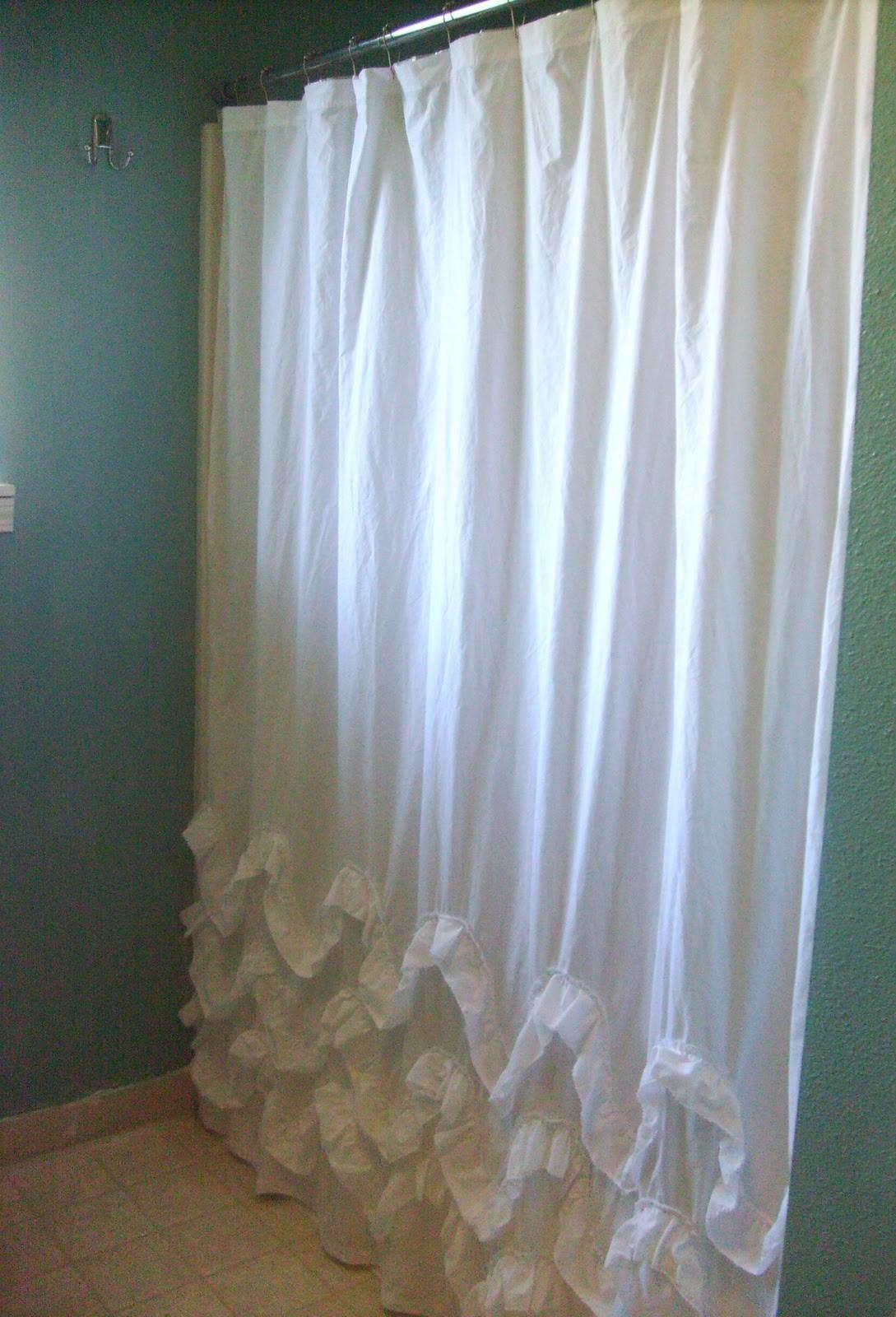 Diy Waves Ruffles Shower Curtain Tutorial Create Enjoy