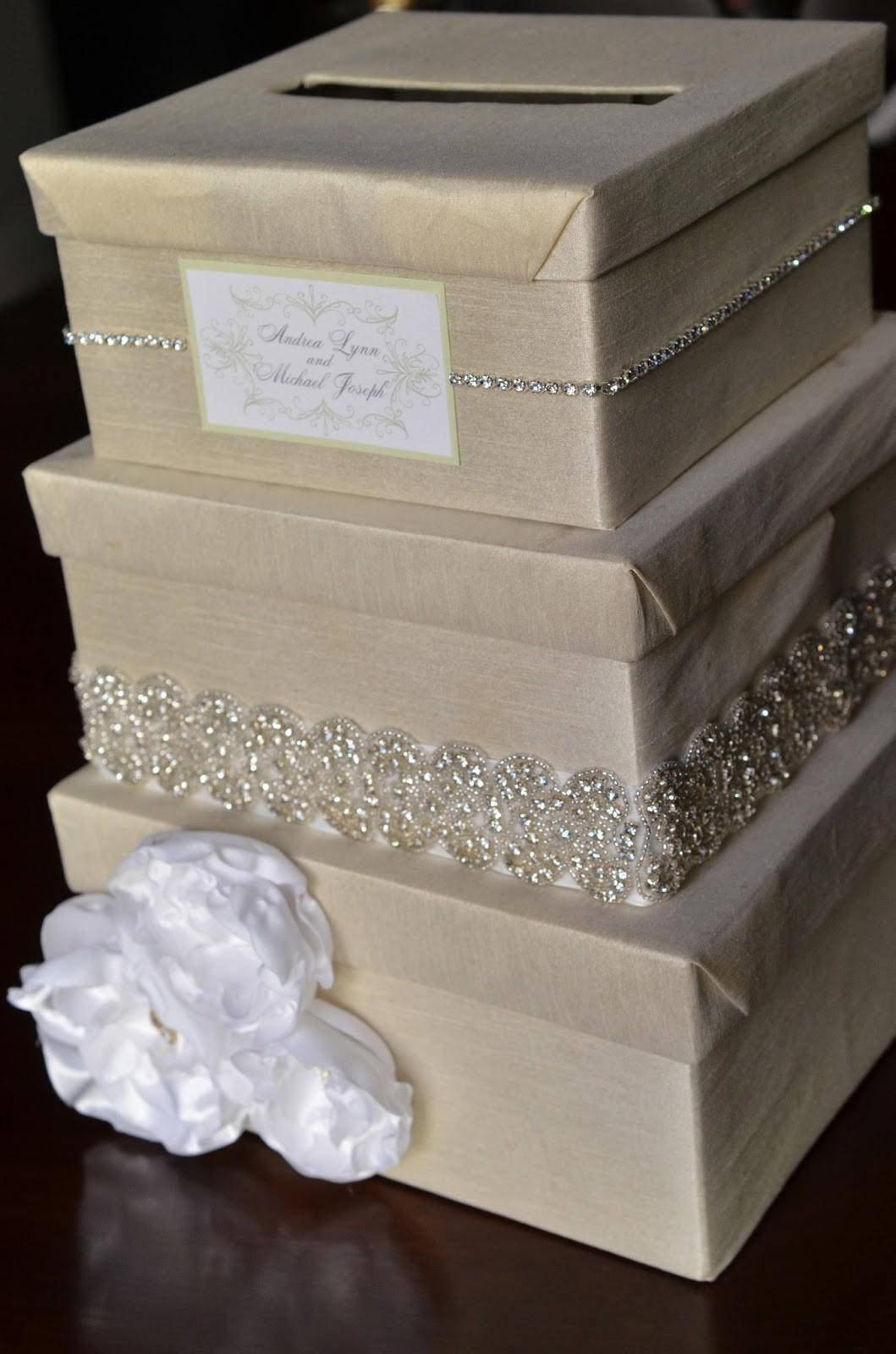 Diy Wedding Card Box Tutorial Andrea Lynn Handmade