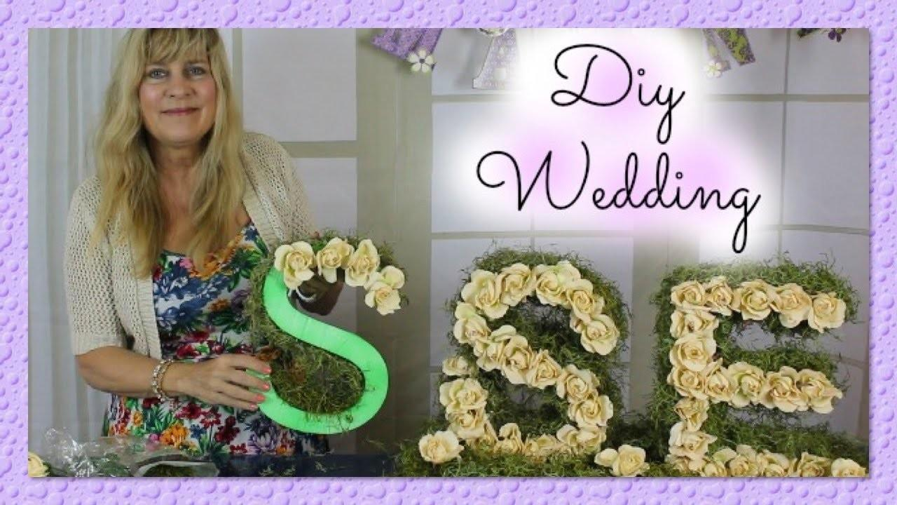 Diy Wedding Centerpieces Bride Groom Initials Monogram