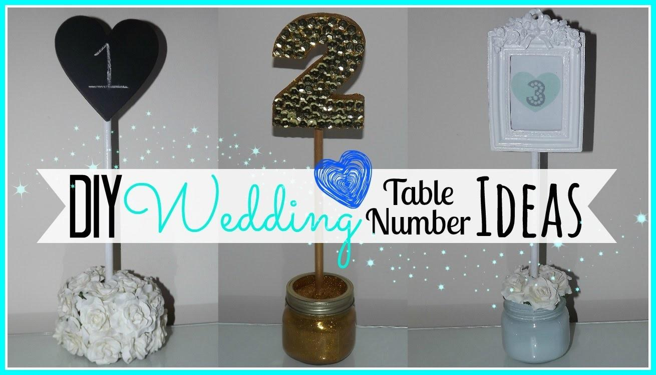 Diy Wedding Table Number Ideas Affordable