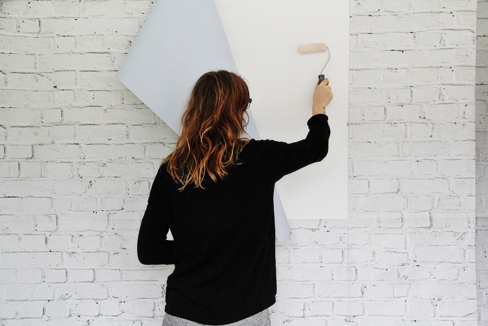 Diy White Brick Wall Renters Fall