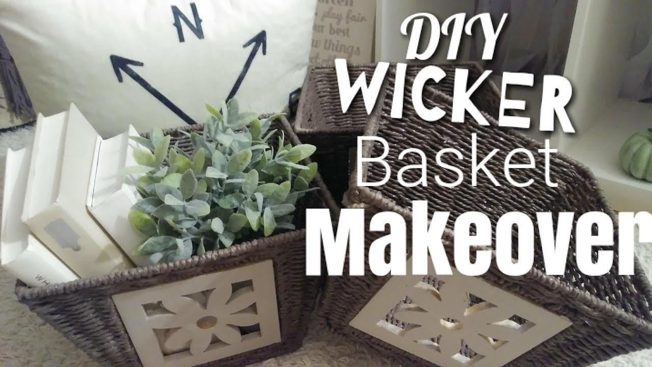 Diy Wicker Basket Makeover Crafts Projects