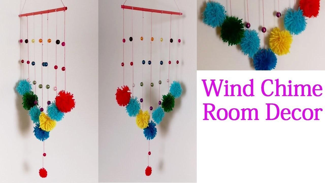 Diy Wind Chime Room Recor Pom Poms Wall Hanging Crafts