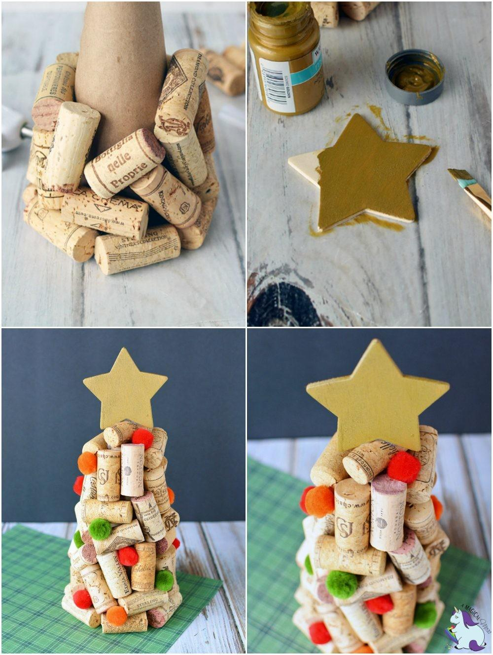 Diy Wine Cork Christmas Trees Craft Magical Mess