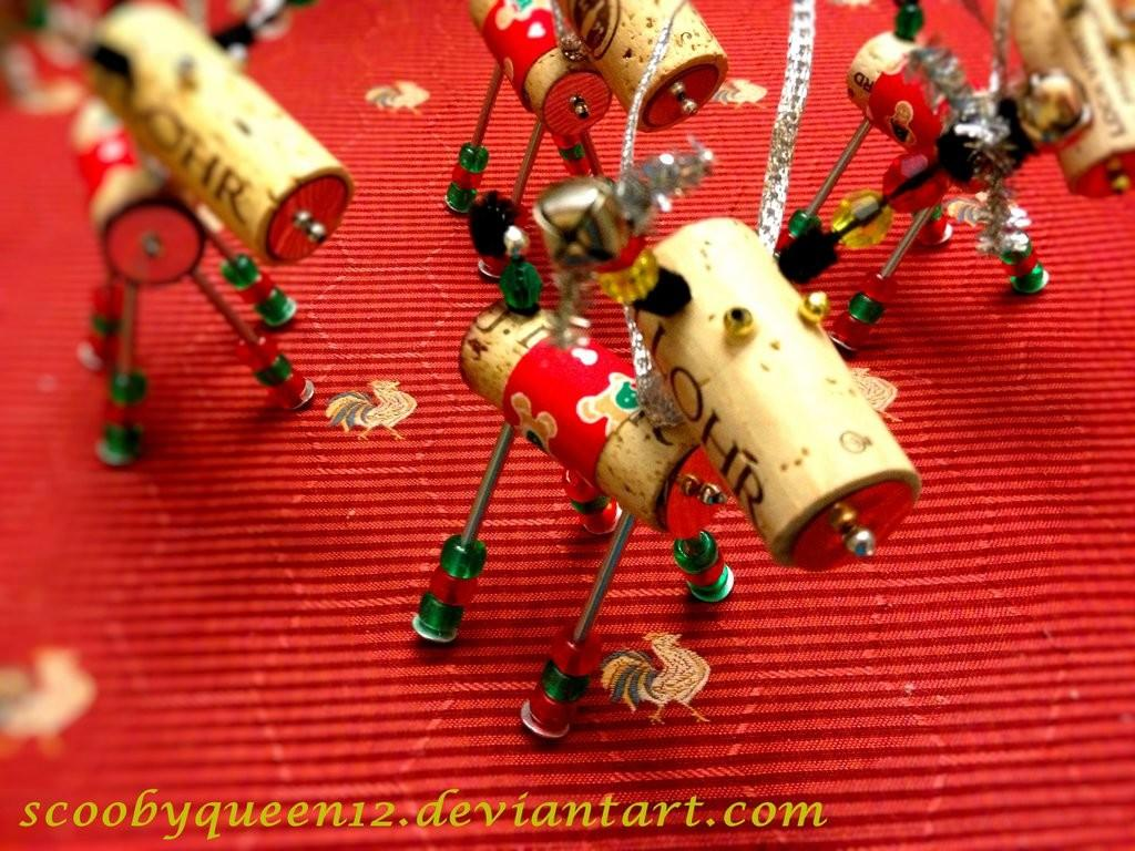 Diy Wine Cork Reindeer Ornament Scoobyqueen12 Deviantart
