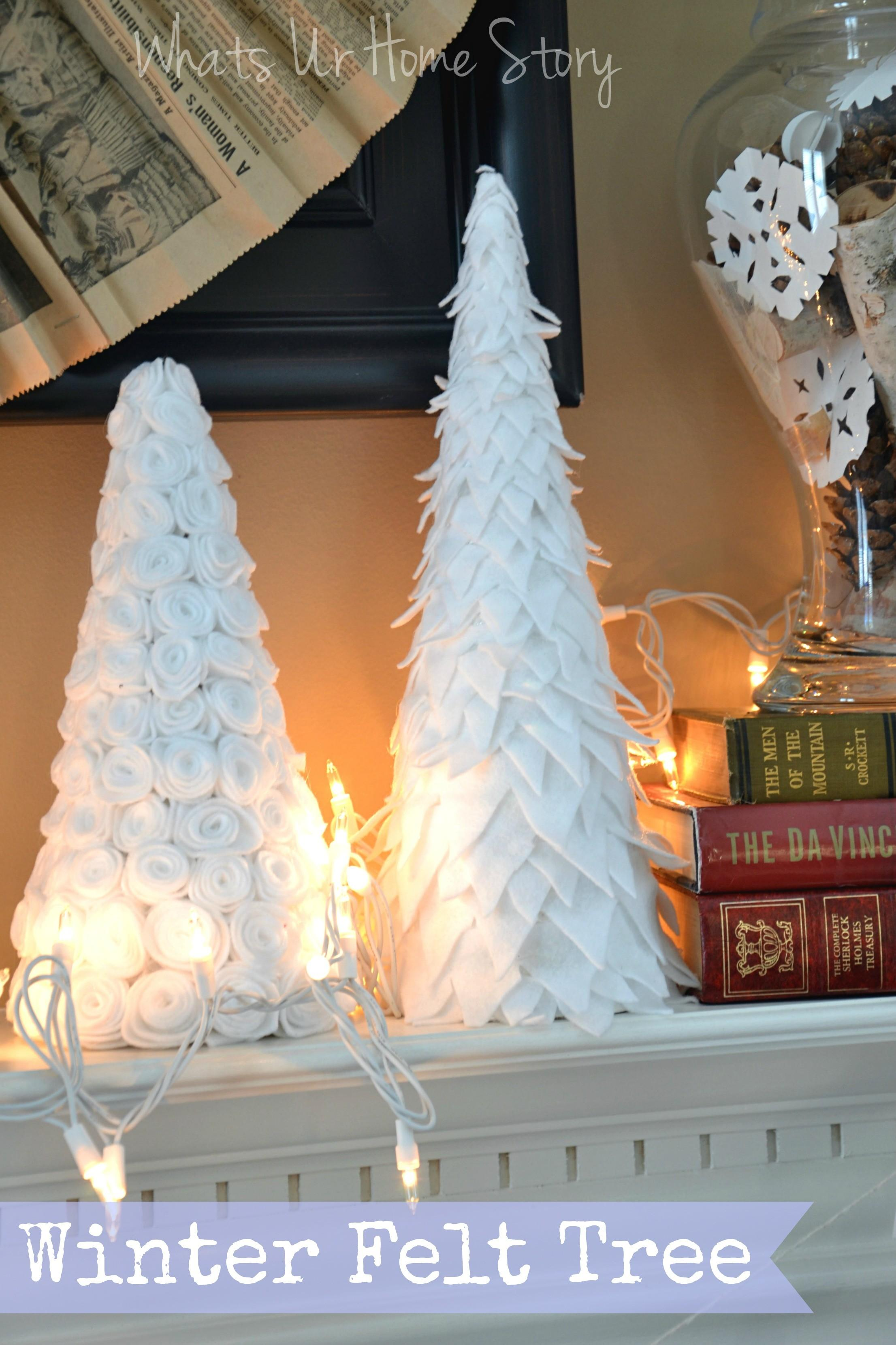 Diy Winter Felt Tree