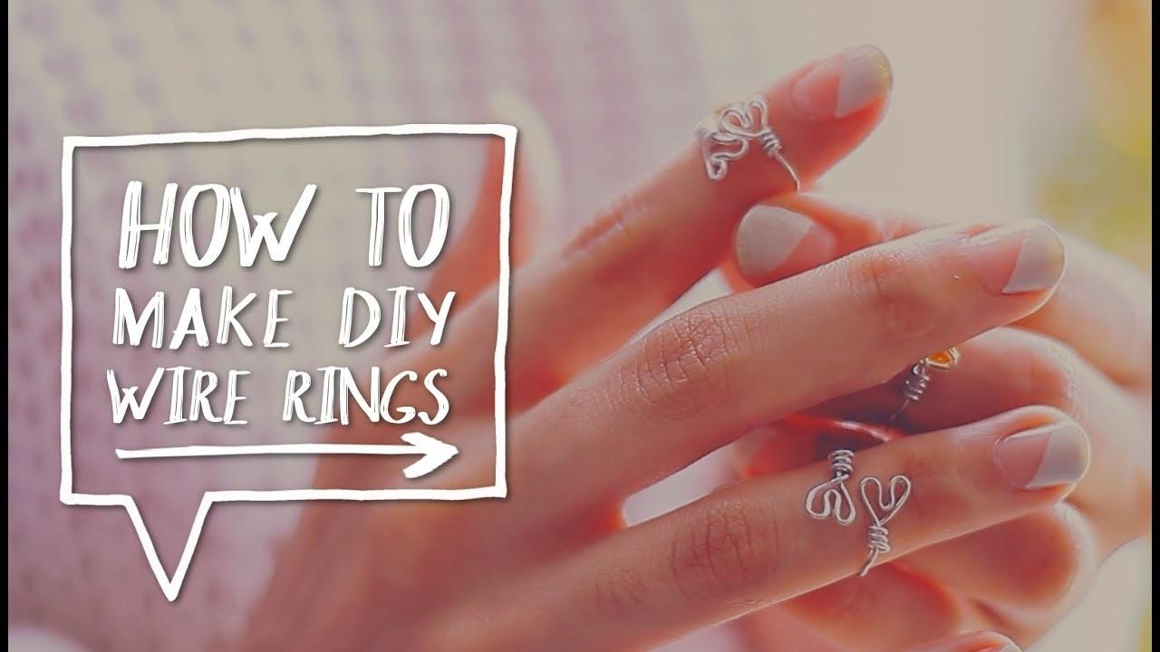 Diy Wire Rings Make Upper Finger Heart
