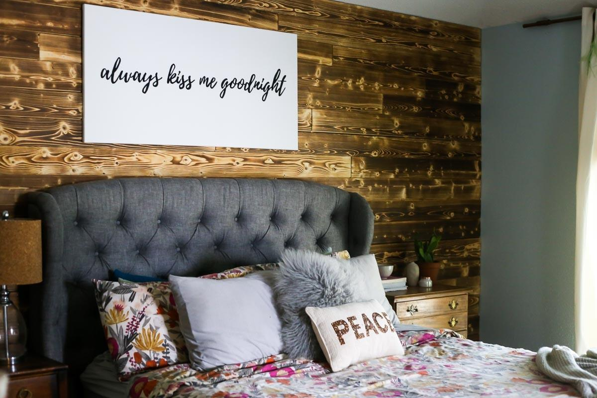 Diy Wood Planked Accent Wall Love Renovations