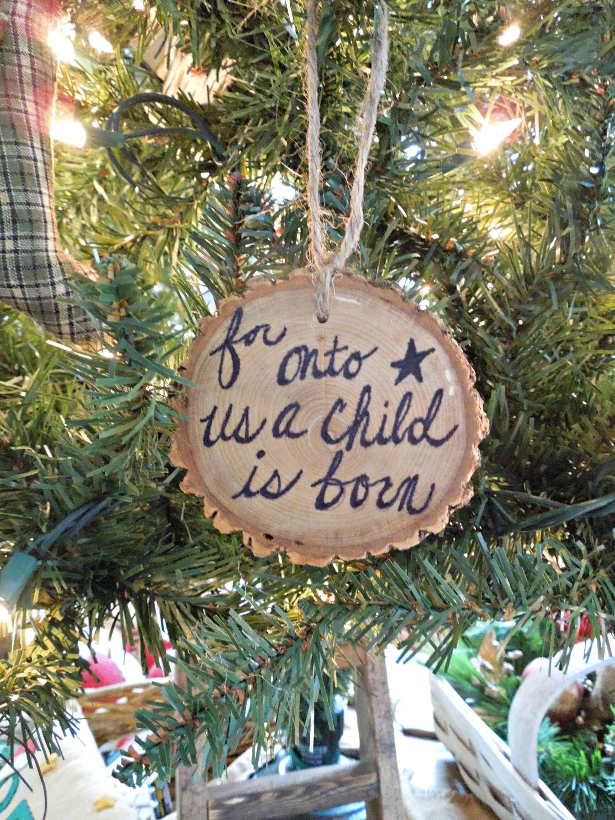 Diy Wood Slice Personalized Ornaments Gift Live