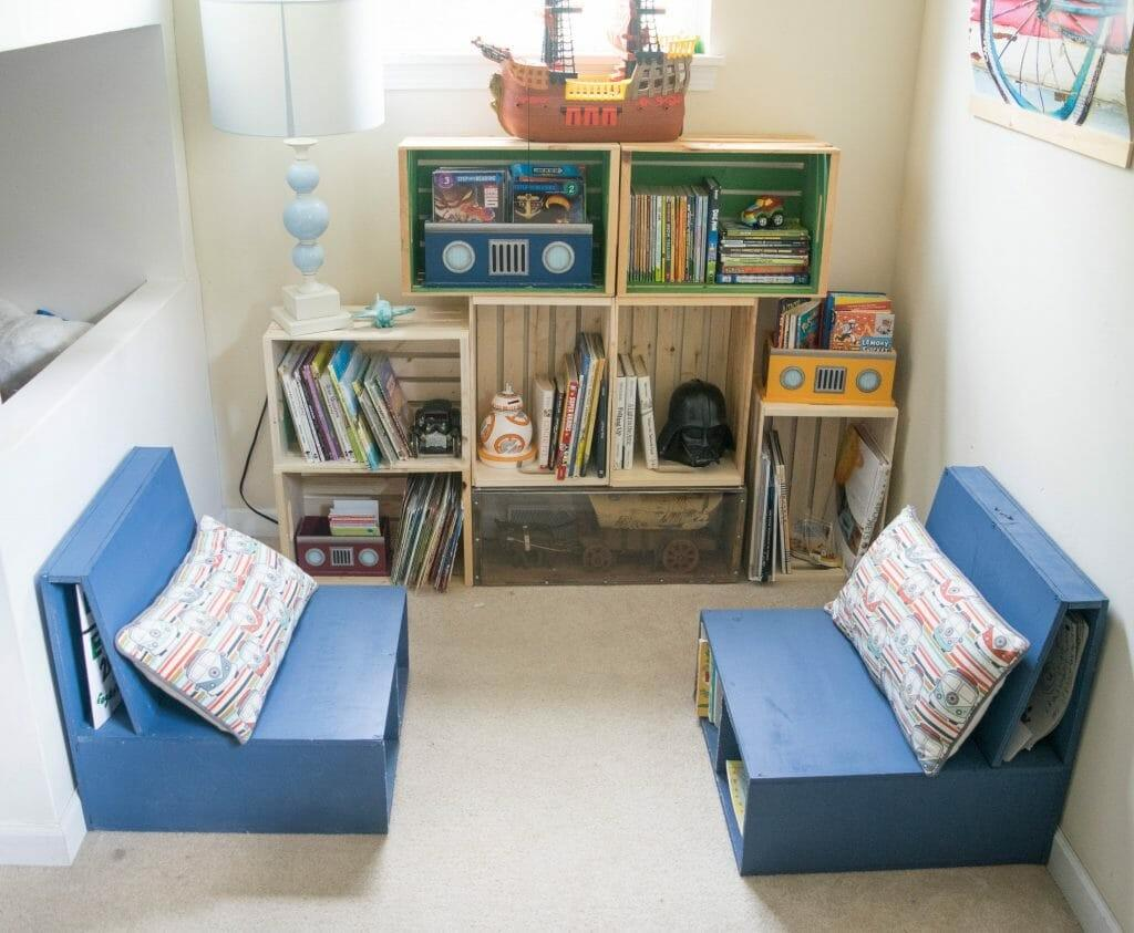 Diy Wooden Crate Bookshelf Making Perfect Kids