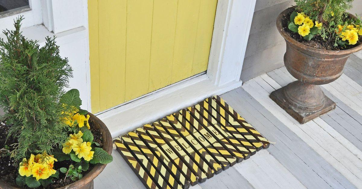 Diy Wooden Door Mat Hometalk