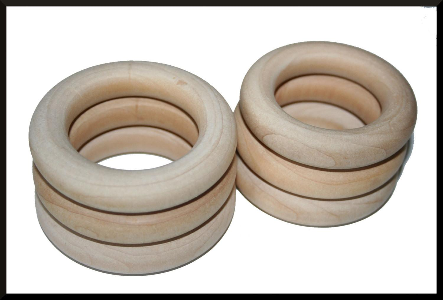 Diy Wooden Rings Various Sizes Ring Toss Teethers Silk
