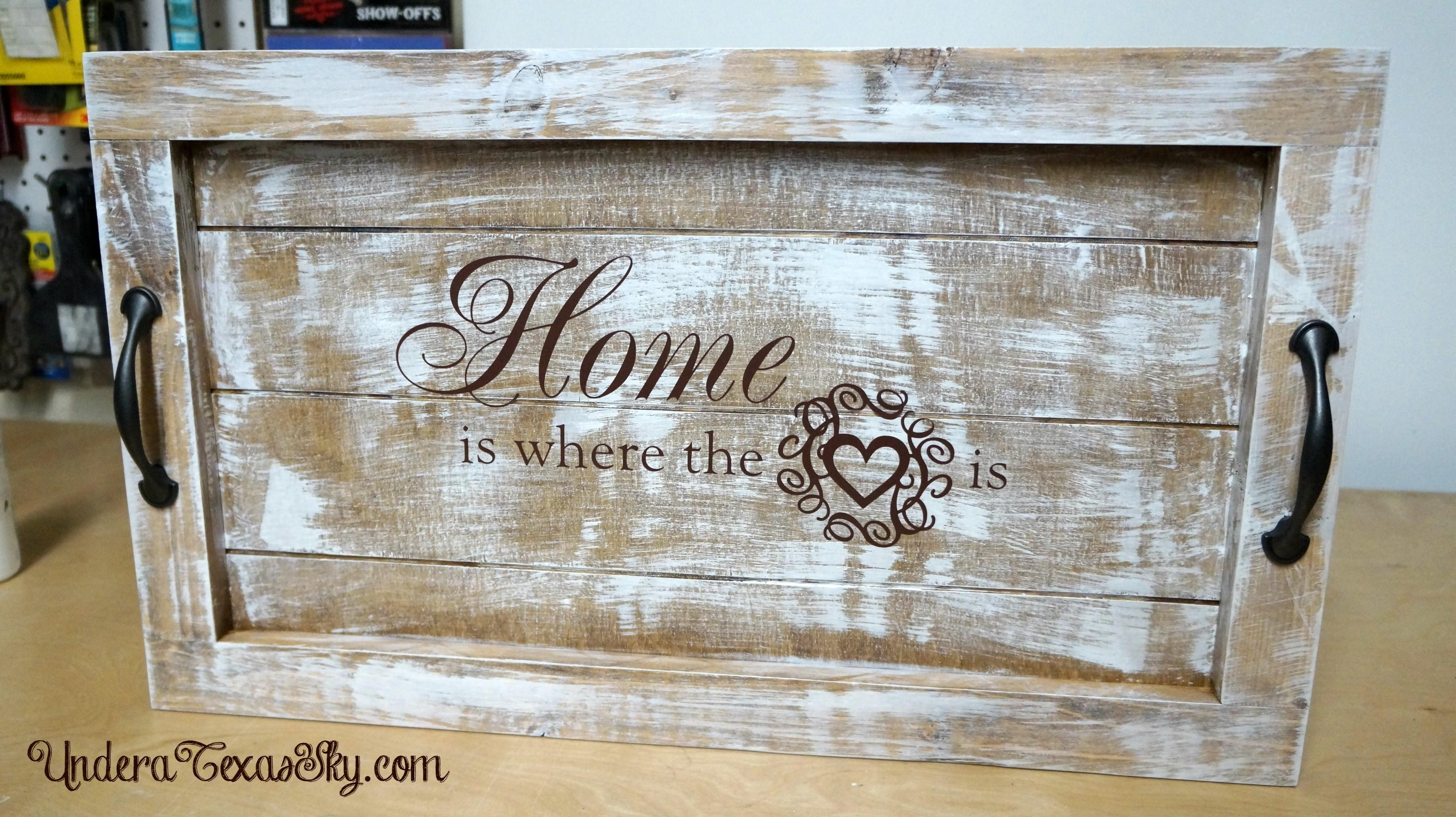 Diy Wooden Serving Tray Your Self