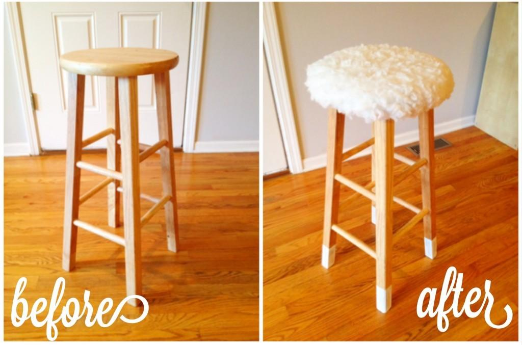 Diy Wooden Stool Makeover Furious Shirley