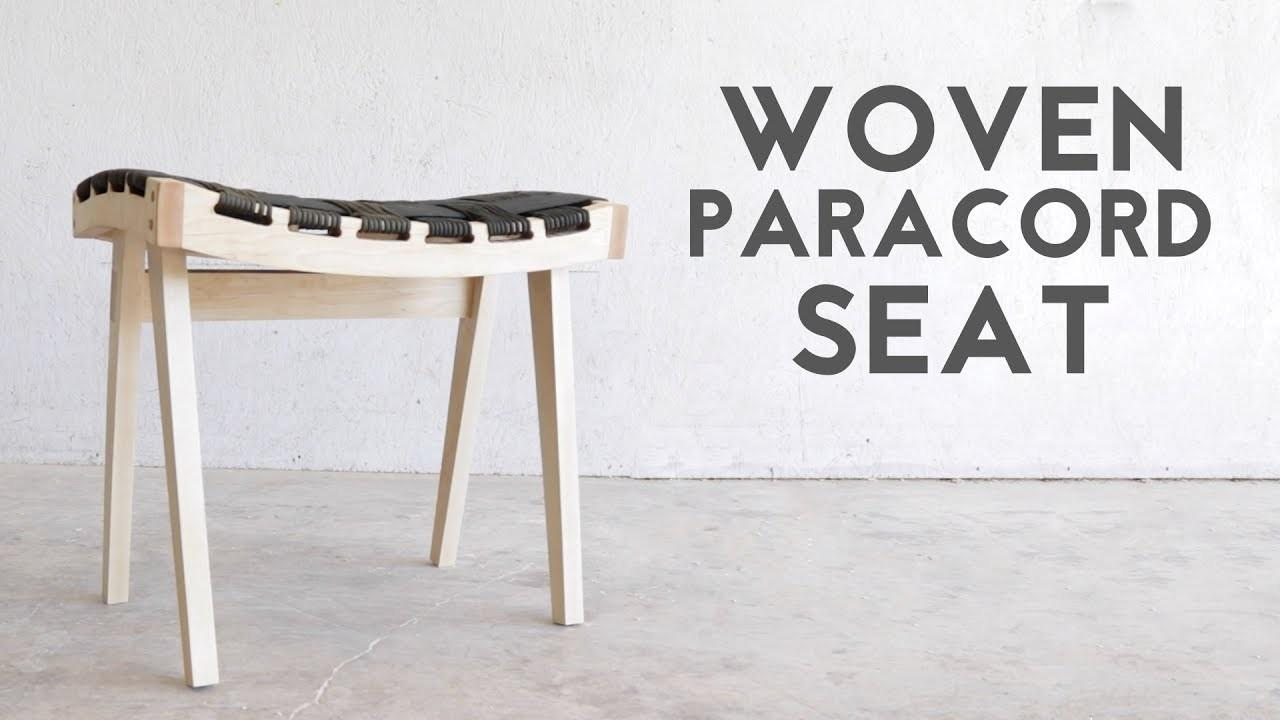 Diy Wooden Stool Woven Paracord Seat Modern Builds