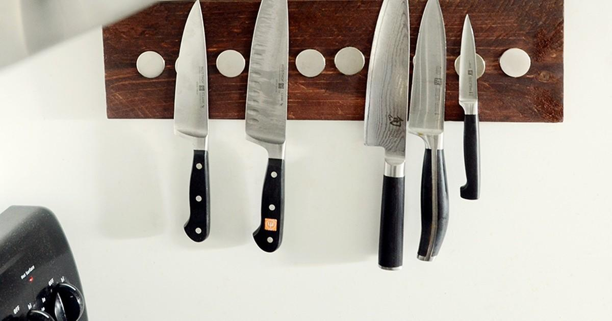 Diy Wooden Wall Mounted Knife Rack Curbly