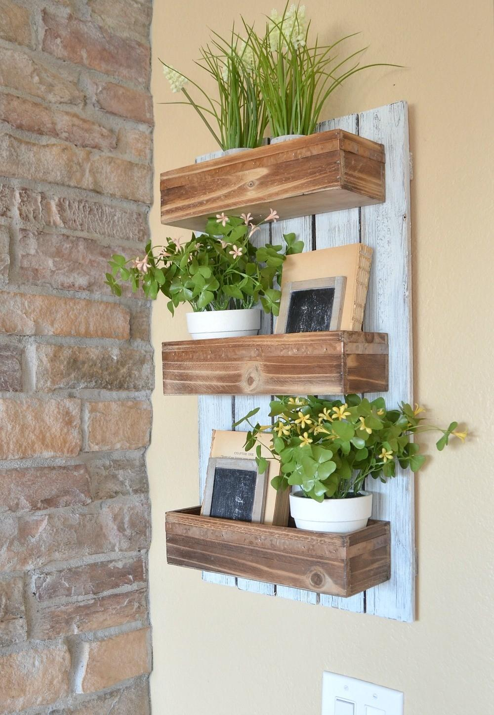 Diy Wooden Wall Planter Little Vintage Nest