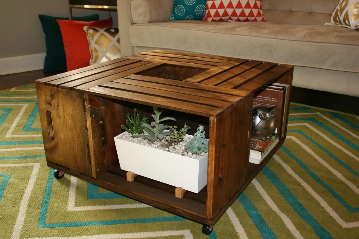 Diy Wooden Wine Crate Coffee Table Johnson County