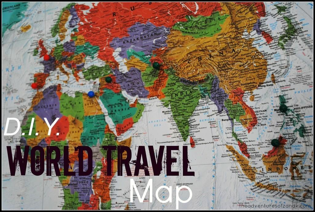 Diy World Travel Map Adventures