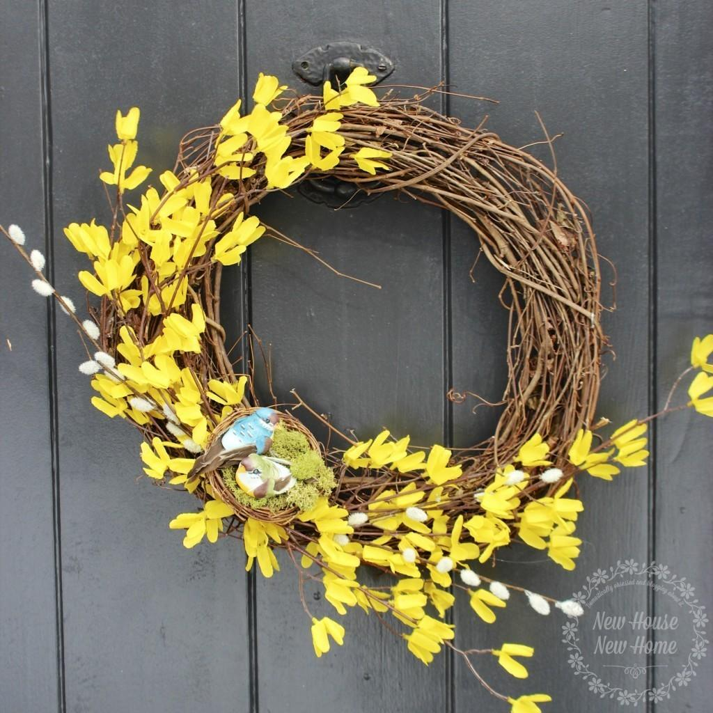 Diy Wreath Spring Initial New House Home