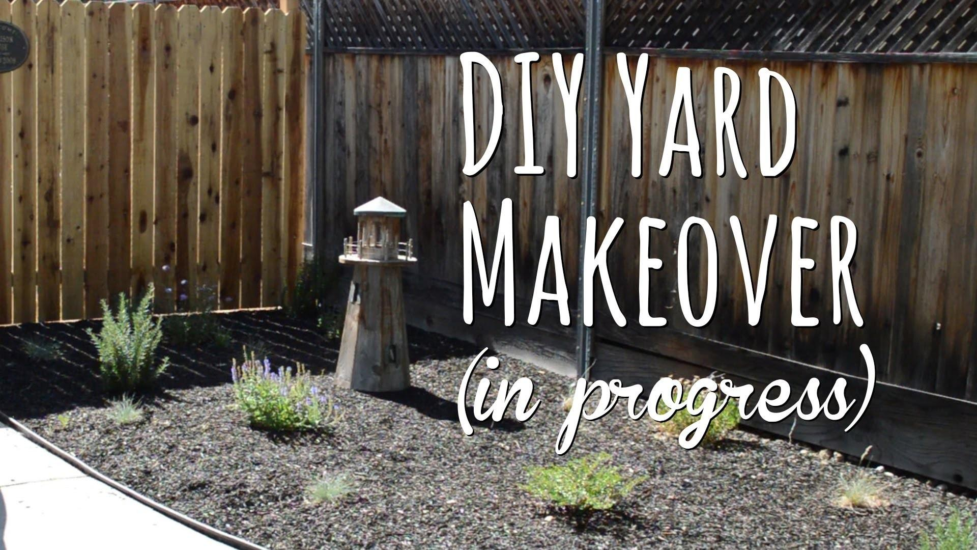 Diy Yard Makeover Front Before After