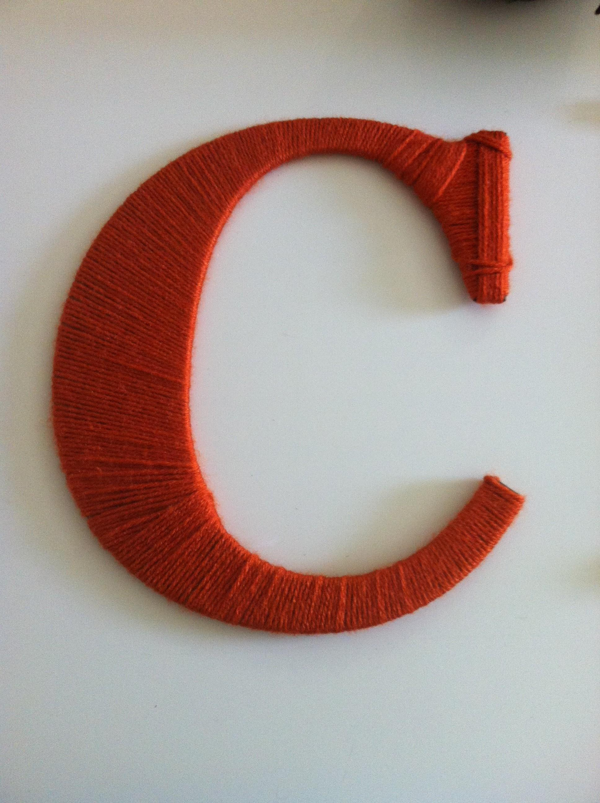 Diy Yarn Covered Letters