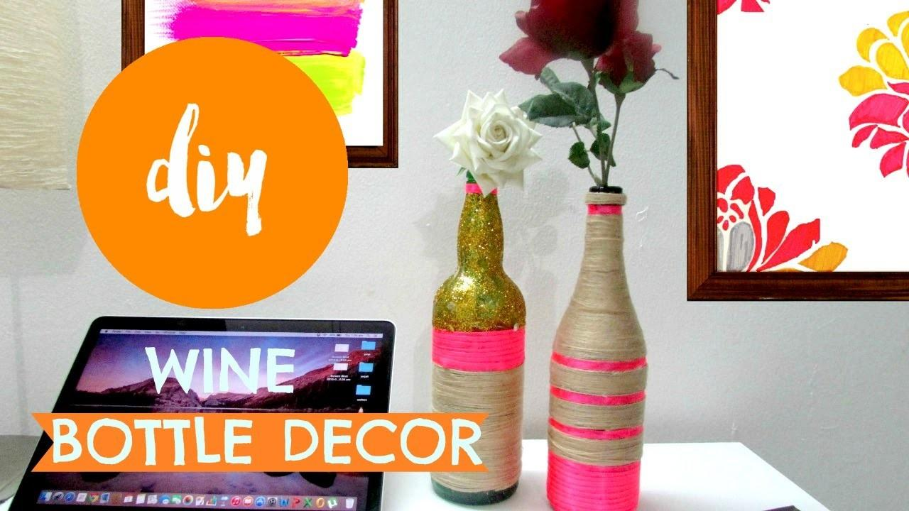Diy Yarn Wrapped Bottle Vase Room Decor Pin
