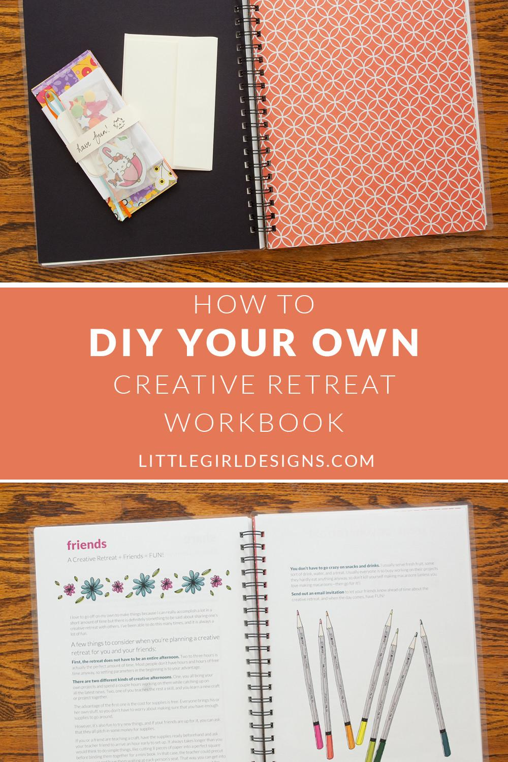 Diy Your Own Creative Retreat Workbook Jennie