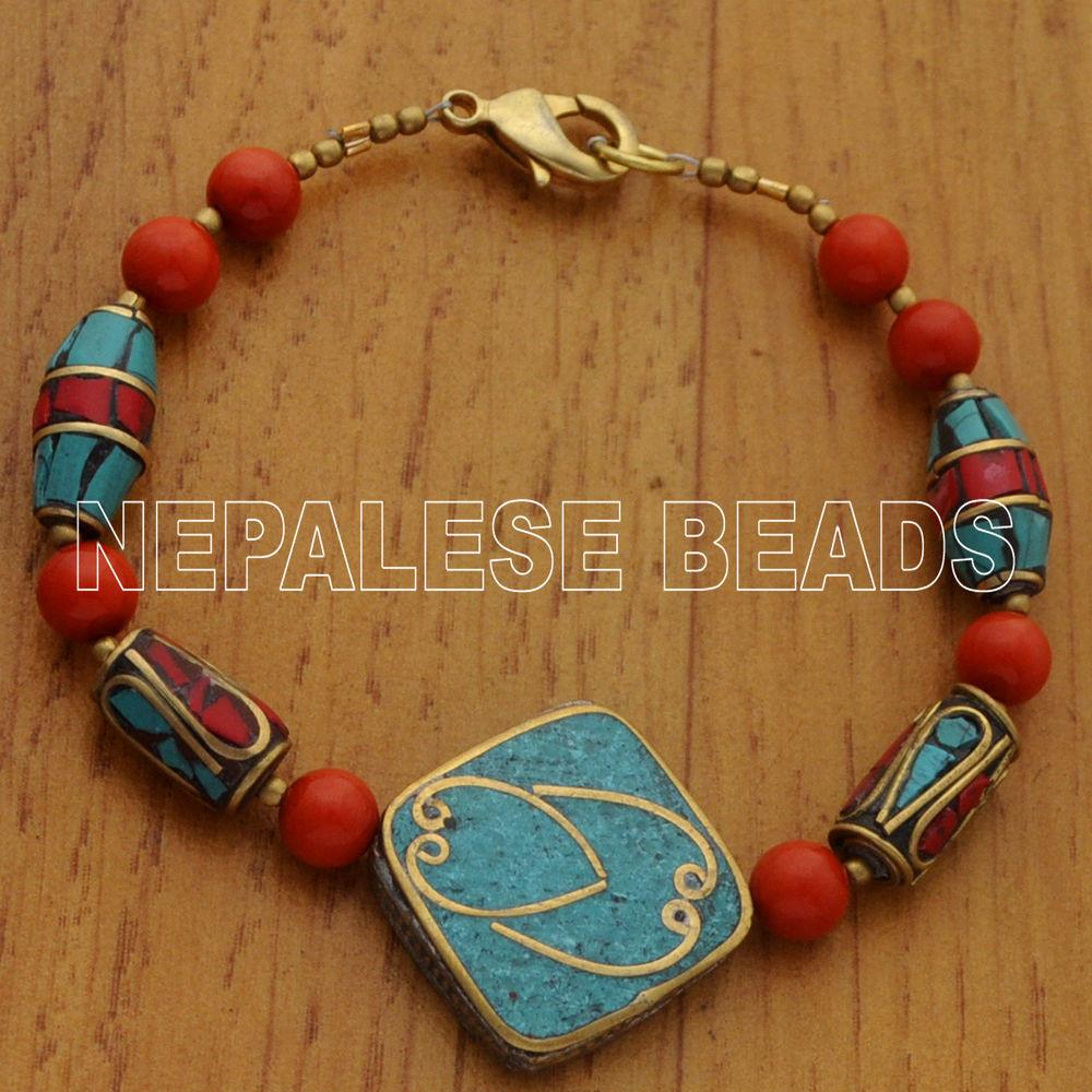 Diy105 Coral Turquoise Brass Beads Yourself Beading