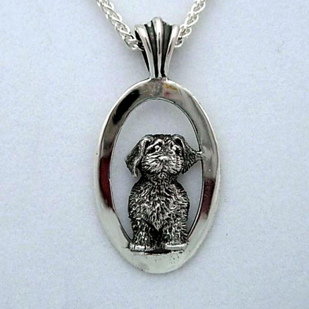 Dog Animal Pet Jewelry Memorial Diy Portraits Silver 14k