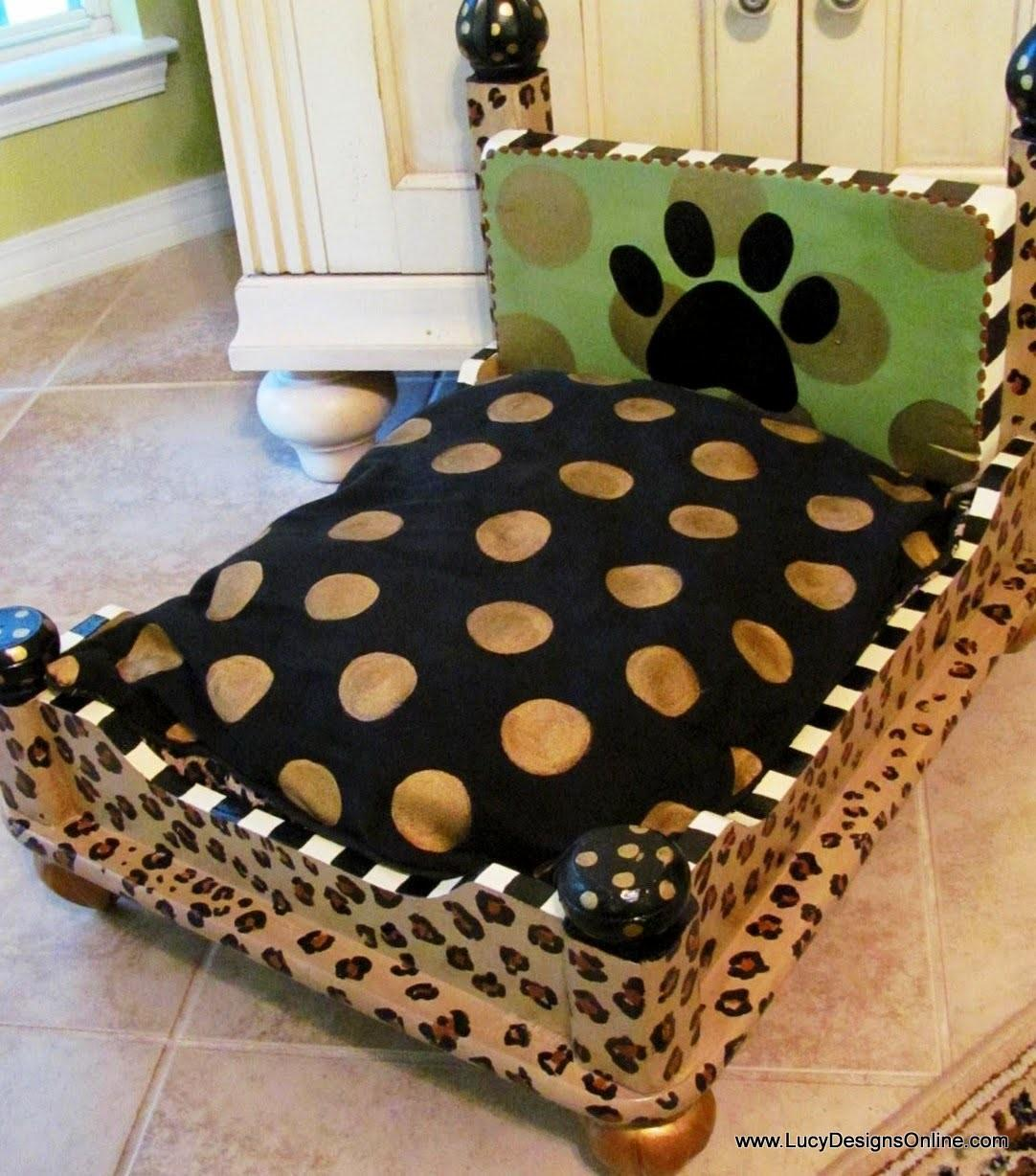 Dog Bed End Table Leopard Print Lucy Designs