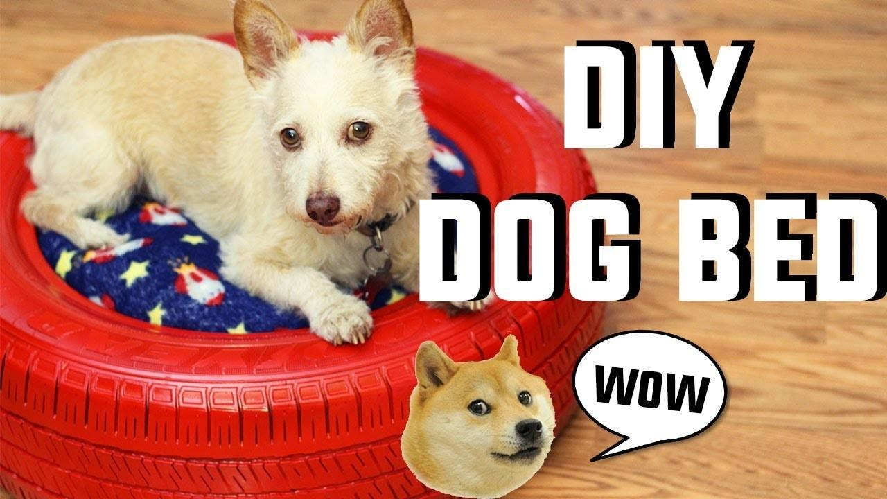 Dog Easy Diy Tire Bed Pet Diys Cat