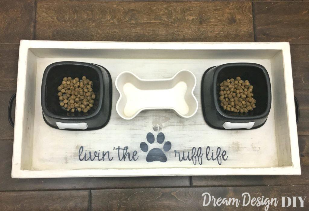 Dog Food Wood Tray Diy Dream Design