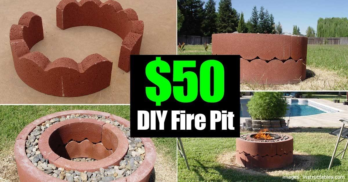 Dollar Fire Pit Diy Movable