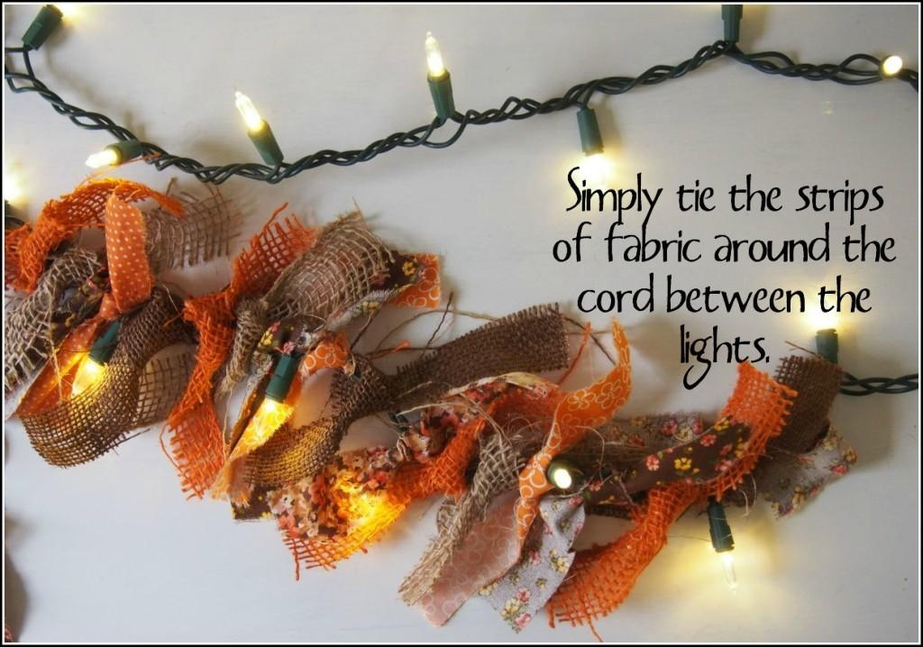 Dollar Store Diva Diy Autumn Lights Garland Cha